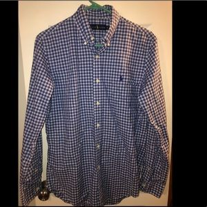 Men's polo button down. Gently used